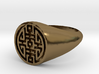 Happiness - Lady Signet Ring 3d printed