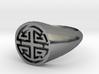 Prosperity - Lady Signet Ring 3d printed