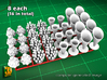 16 ICE & FRIES display stands (1:87) 3d printed ICE & FRIES display stands - as printed