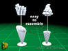 24 ICE & FRIES display stand (1:87) 3d printed ICE & FRIES display stands - assemble