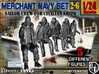 1-24 Merchant Navy Crew Set 2-6 3d printed