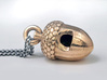 Acorn Whistle 3d printed Raw Bronze (hand polished)