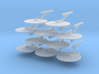 1/7000 Destroyer Akula - 10 ships pack 3d printed