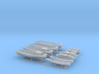 1/350 WW2 RN Boat Set 2 without Mounts 3d printed 1/350 Royal Navy WW2 Boat Set 2