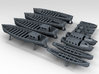 1/450 WW2 RN Boat Set 2 with Mounts 3d printed 3d render showing detail