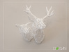 Wired Life Doe Medium Facing Left 3d printed Doe with Stag turning left