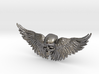 Metal Skull ring with wings 3d printed