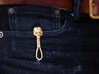 Skull Keychain Clip 3d printed Clipped to outside pocket