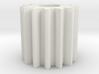 Cylindrical gear Mn=1 Z=14 AP20° Beta0° b=15 HoleØ 3d printed