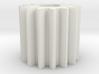 Cylindrical gear Mn=1 Z=15 AP20° Beta0° b=15 HoleØ 3d printed