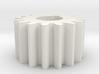 Cylindrical gear Mn=1 Z=16 AP20° Beta0° b=10 HoleØ 3d printed