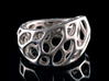 2-Layer Twist Ring 3d printed in Stainless Steel