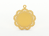Design for pendant/earring - SK0030B 3d printed Gold preview