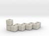 Block menorah 3d printed