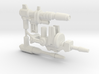 Titan Scout Arsenal, set of 3 Blasters (5mm) 3d printed