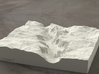 6'' Yosemite Valley, California, USA, Sandstone 3d printed Yosemite valley model rendered in Radiance, viewed from the West, past El Capitan and toward Half Dome.