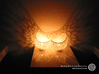 Filigree double wall tealight holder 3d printed Own 3D-prints with white PLA.