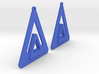Triangle Earring Pair Model O Solid 3d printed