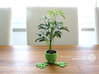 Small Plant Pot (short) 3d printed Own print with green PLA.