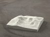 4'' Mt. Katahdin, Maine, USA, Sandstone 3d printed Radiance randering of model, looking West at Great Basin and Howe Peaks.