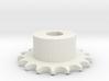 Pignone Per Catena Semplice ISO 04B-1 P6 Z17 3d printed