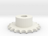 Pignone Per Catena Semplice ISO 04B-1 P6 Z19 3d printed