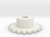 Pignone Per Catena Semplice ISO 04B-1 P6 Z20 3d printed