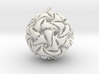 Twisted Christmas Bauble 3d printed