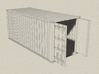1/72 scale 20 ft Shipping Container ISO 3d printed