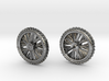 Motorcycle Dirtbike Tire and Wheel Earings, Studs 3d printed
