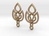 Celtic Knot Leaf Earrings 3d printed