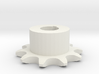 Chain sprocket ISO 05B-1 P8 Z10 3d printed