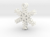 Powder Snowflake Earrings 3d printed