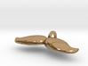Mustache Pendant v5 3d printed