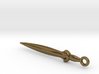 Pendant of smooth bronze sword c.1200BCE 3d printed