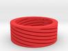 Diagonal stripes ring Ring Size 8 3d printed