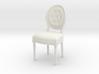 1:12 Louis XVI Side Chair 3d printed