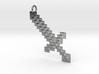 BlockSword Pendant 3d printed
