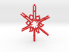 Candy Cane Snowflake 3d printed