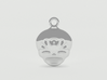 Smiling Child - head - Design for pendant/earring  3d printed Silver preview