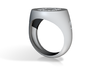Ring Chevaliere O 14 3d printed