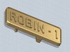 BELT BUCKLE ROBIN1 3d printed Belt buckle with the Robin 1 license plate, render
