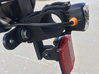 Tail-light Bracket For Iberia IB-RA11 and MagicShi 3d printed Bracket attached to Ibera IB-RA11 bike rack, with Magic-Shine Tail Light and reflector attached.