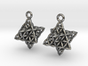 Flower Of Life Star Tetrahedron Earrings 3d printed
