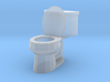 Toilet Open S-Scale 3d printed