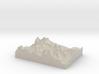 Model of Gooseneck Glacier 3d printed