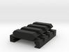 "1/4"" High 3 Slots Hybrid Picatinny/Weaver Riser 3d printed"