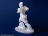 Spiral Expansion of Muscles in Movement - 15.2cm 3d printed 6 inch version white