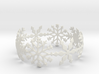 Snowflake Bangle (medium) 3d printed