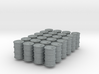 Power Grid Oil Barrels - Set of 24 3d printed